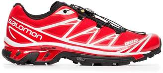 ADV Salomon S/Lab red and white XT-6 sneakers
