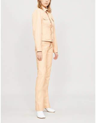 Helmut Lang Pocket-detail leather jacket