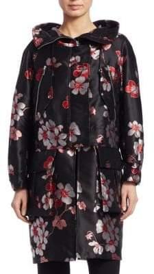 Emporio Armani Floral Jacquard Coat