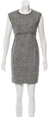 Oscar de la Renta Embellished Bouclé Dress