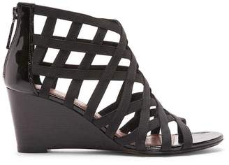 Donald J Pliner JORDA, Basic Elastic and Patent Leather Wedge Sandal