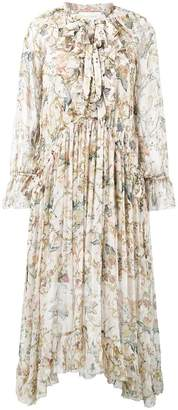 Zimmermann Painted Heart ruffle midi-dress