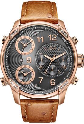 JBW Men's G4 Leather Diamond Watch