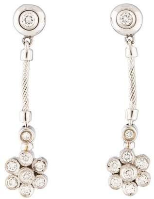 Charriol Diamond Floral Drop Earrings