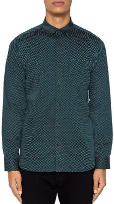 Ted Baker Skwere Regular Fit Button-Down Shirt