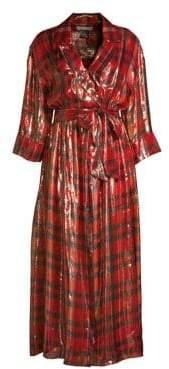 Alice + Olivia Chap Wrap Shirt Dress