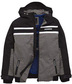 Very Colour Block Sports Jacket In Black / Grey Size 3-4 Years