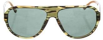 Versace Greca Aviator Sunglasses