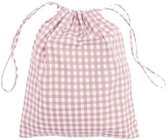 Prada Gingham drawstring wash bag