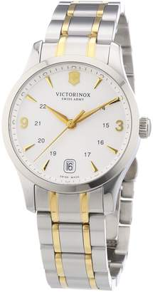 Victorinox Women's 241543 'Alliance' Silver Dial Two Tone Stainless Steel Swiss Quartz Watch