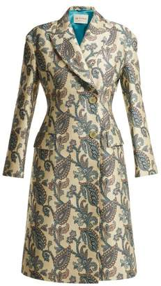 Etro Carmen Paisley Jacquard Cotton Blend Coat - Womens - Ivory Multi