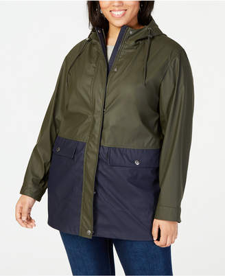 Levi's Plus Size Colorblocked Rain Jacket
