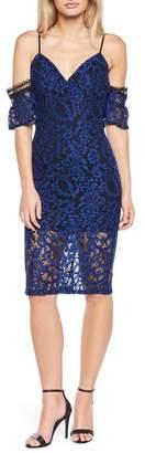 Bardot Taegen Cold Shoulder Lace Dress