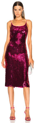Oscar de la Renta Sequin Low Back Slip Dress