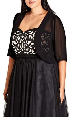 City Chic Chiffon Shrug