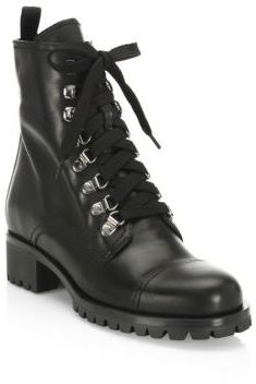 Prada Soft Leather Combat Boots