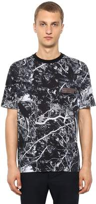 Lanvin Camouflage Printed Cotton Jersey T-shirt