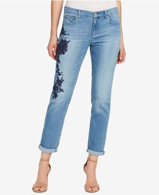 Vintage America Gratia Bestie Cuffed Embroidered Jeans