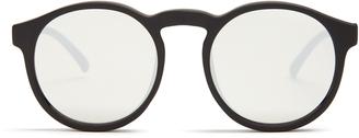 LE SPECS Cubanos round-frame mirrored sunglasses $41 thestylecure.com