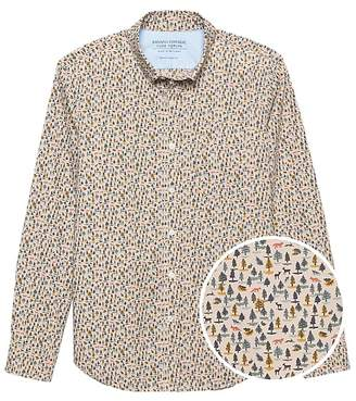 Banana Republic JAPAN ONLINE EXCLUSIVE Slim-Fit Luxe Poplin Forest Print Shirt