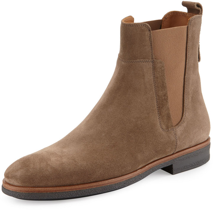 vince s suede chelsea boot light brown shopstyle