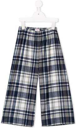 Il Gufo tartan culotte trousers
