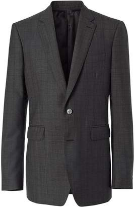 Classic Fit Check Wool Three-piece Suit