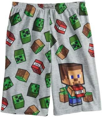 Boys 4-16 Minecraft Sleep Shorts