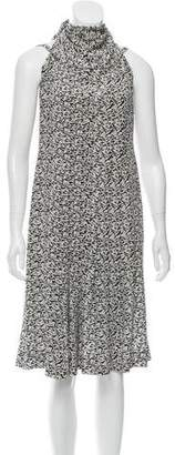 Chanel Printed Silk Dress