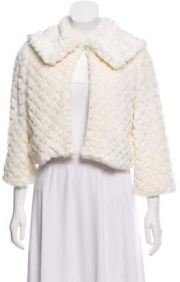 Alice + Olivia Faux Fur Cropped Jacket
