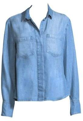 Bella Dahl Split Back Denim Button-Down Shirt