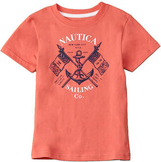 Nautica Boys' John Dark Pink T-Shirt