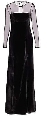 Cinq à Sept Women's Velvet Mesh Gown
