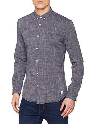 Tom Tailor NOS) Men's 1008086 Long Sleeve Top, (Black Iris Blue 10334), Small