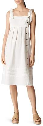 Whistles Button Detail Linen Dress