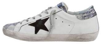 Golden Goose Superstar Glitter Low-Top Sneakers w/ Tags