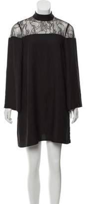 Nicole Miller Lace-Accented Shift Dress w/ Tags Black Lace-Accented Shift Dress w/ Tags