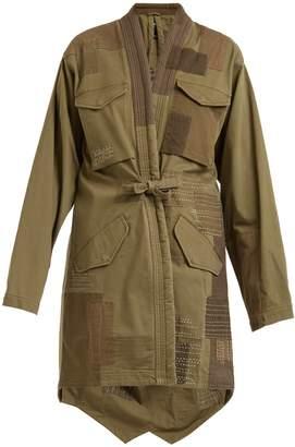 MHI Patchwork cotton-blend jacket
