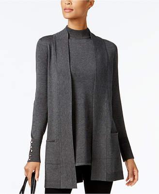 JM Collection Petite Sleeveless Mock Neck Sweater