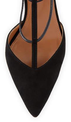 Aquazzura Cayenne Strappy Suede Sandals, Black