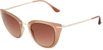 Ellen Tracy Metal Cat Eye Sunglasses