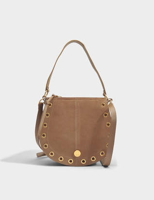 See by Chloe Kriss Small Hobo Bag in Nomad Beige Grained Cowhide Leather and Suede Leather