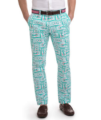 Vineyard Vines Printed Tickets Breaker Pants