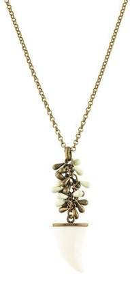 Isabel Marant Enamel Shark Tooth Pendant Necklace