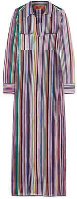 Missoni Striped Crochet-knit Maxi Dress
