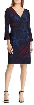 Ralph Lauren Jersey Bell-Sleeve Dress