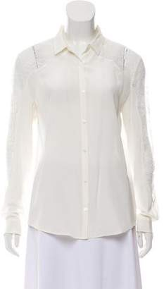 The Kooples Silk Lace Top