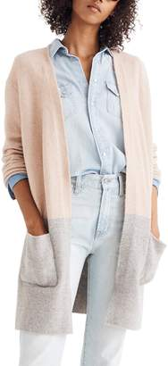Madewell Kent Colorblock Cardigan Sweater