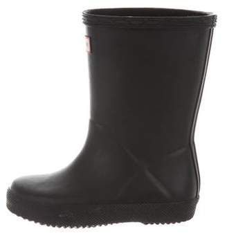 Hunter Boys' Rubber Rain Boots