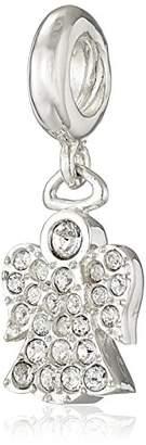 Swarovski Chamilia Sterling Silver and Crystal Angel Bead Charm